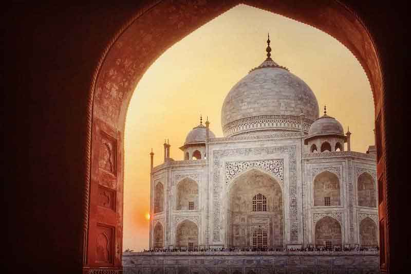 Taj Mahal Sunrise From Delhi